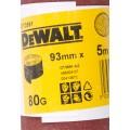 Лист шлифовальный в рулоне К80 (93х5000 мм) для виброшлифмашин Dewalt DT 3591